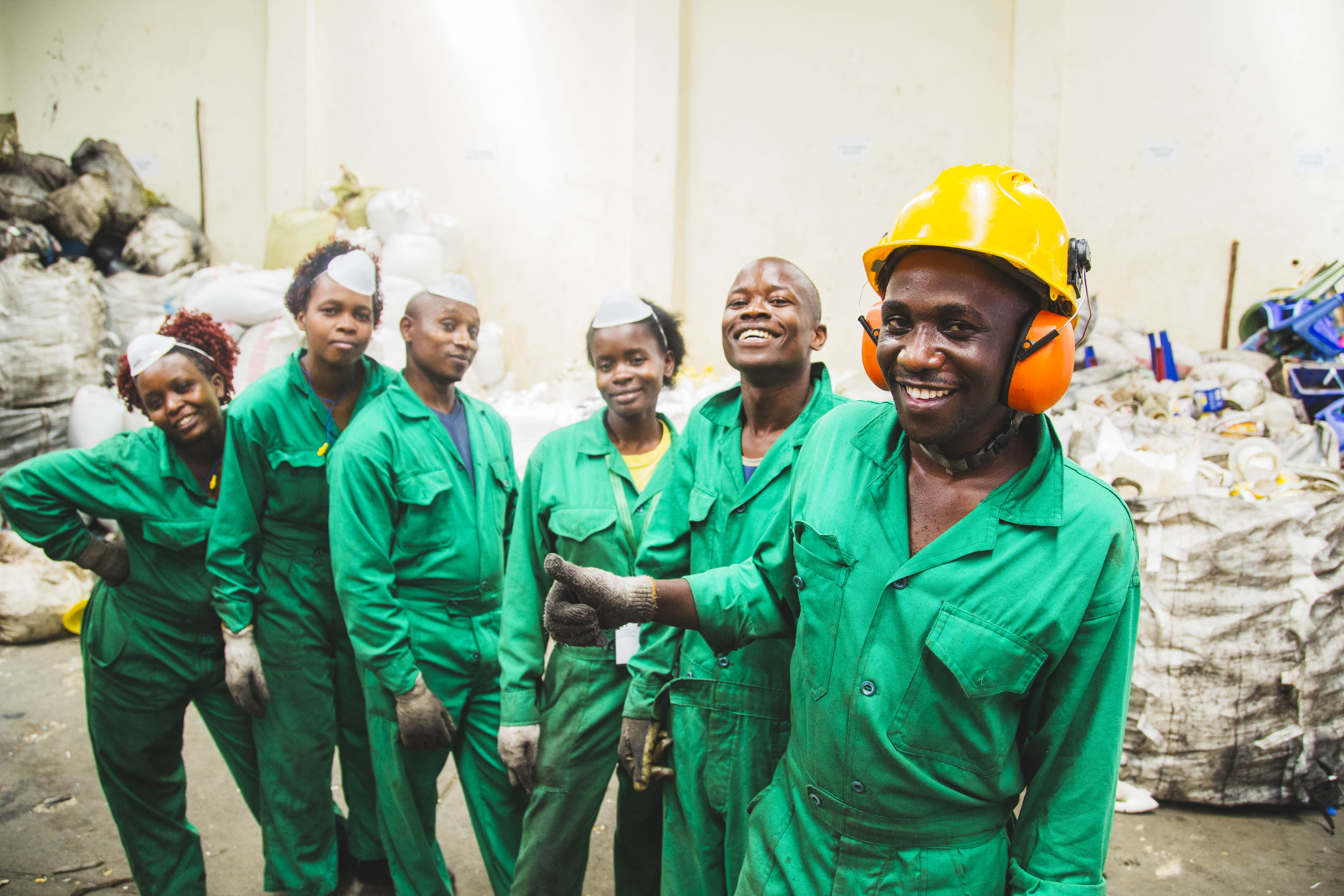 Mr. Green Africa – Recycling production team